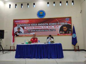 Kunjungan Kerja Komisi III DPR RI di BNN Kabupaten Blitar