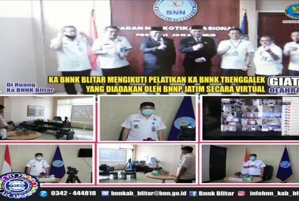 Pelantikan Kepala BNN Kabupaten Trenggalek secara Virtual