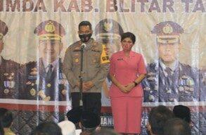 Kepala BNNK Blitar Menghadiri Silaturami Forkopimda Blitar dan Perkenalan Kapolres Blitar